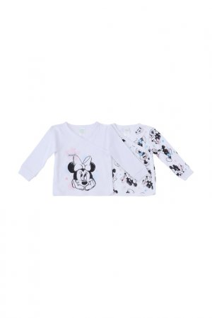 Комплект футболок, 2 шт PlayToday. Цвет: белый, черный, розовый