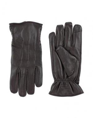 Перчатки JACK & JONES. Цвет: темно-коричневый