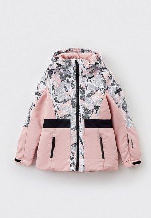 Куртка горнолыжная Glissade. Цвет: розовый