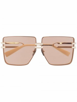 Солнцезащитные очки Gendarme в квадратной оправе Balmain Eyewear. Цвет: нейтральные цвета
