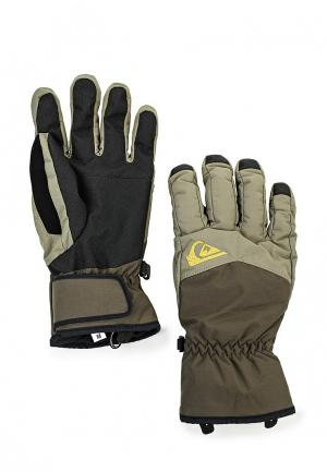 Перчатки Quiksilver Cross Glove. Цвет: хаки