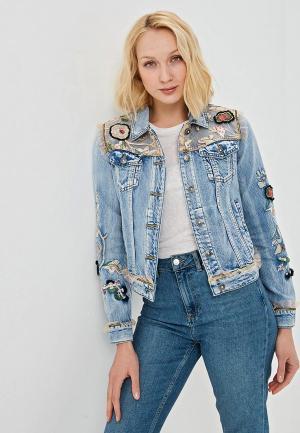 Куртка джинсовая Desigual. Цвет: голубой