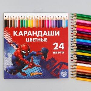 Карандаши цветные, 24 цвета MARVEL