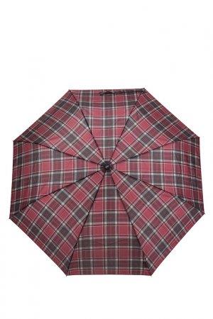 Зонт Doppler. Цвет: бордовый, клетка