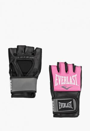 Перчатки боксерские Everlast Pro Style Grappling. Цвет: розовый