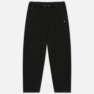 Мужские брюки Straight Leg Premium Cotton Track Champion Reverse Weave. Цвет: чёрный