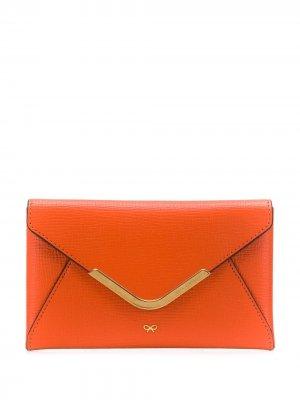 Маленький кошелек Postbox Anya Hindmarch. Цвет: оранжевый