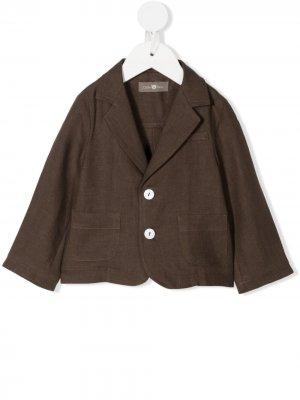 Пиджак на пуговицах Little Bear. Цвет: коричневый
