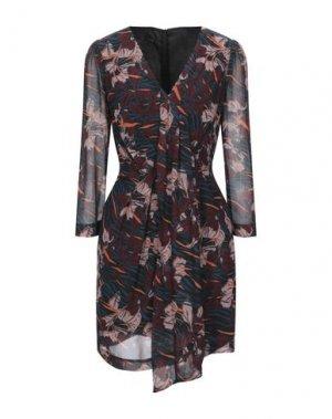 Короткое платье ANNARITA N. Цвет: красно-коричневый