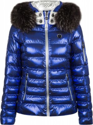 Куртка пуховая женская Kyon m.Kap+P, размер 42 Sportalm. Цвет: синий