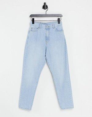 Выбеленные голубые джинсы в винтажном стиле с завышенной талией Nora-Голубой Dr Denim