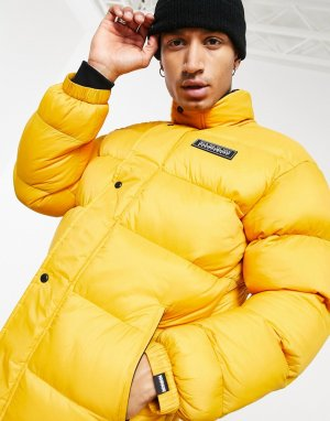 Желтая дутая куртка Tammikuu-Желтый Napapijri