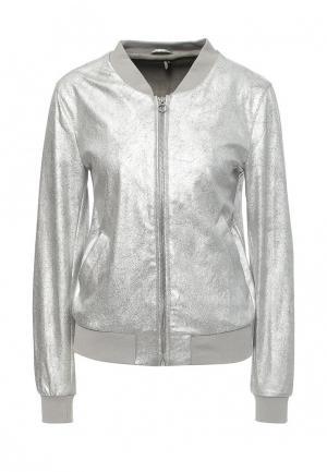Куртка Only. Цвет: серебряный