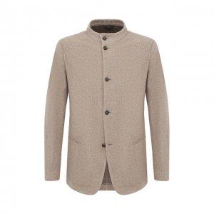 Кашемировый пиджак Giorgio Armani. Цвет: бежевый