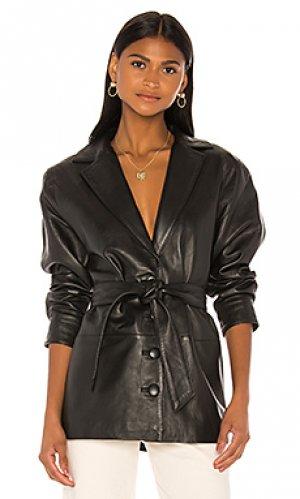 Кожаная куртка bennie Song of Style. Цвет: черный
