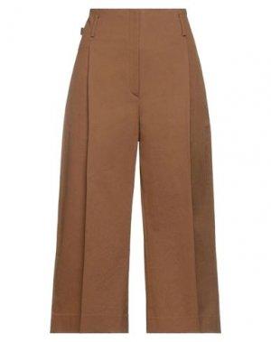 Укороченные брюки TELA. Цвет: коричневый