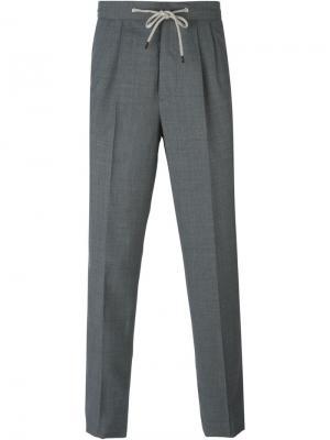 Классические брюки на шнурке Brunello Cucinelli. Цвет: серый