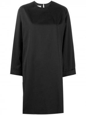 Платье-трапеция 1990-х годов Dries Van Noten Pre-Owned. Цвет: черный