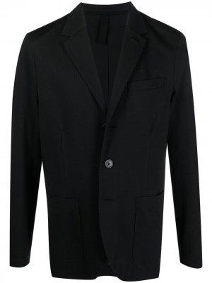 Однобортный пиджак с заостренными лацканами Harris Wharf London. Цвет: черный