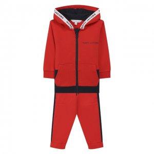 Комплект из кардигана и брюк MARC JACOBS (THE). Цвет: красный