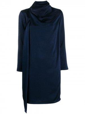 Платье миди с драпировкой Gianluca Capannolo. Цвет: синий