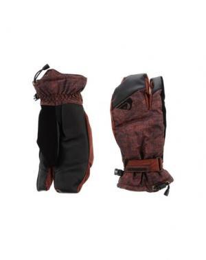 Перчатки QUIKSILVER. Цвет: коричневый