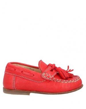 Мокасины OCRA. Цвет: красный