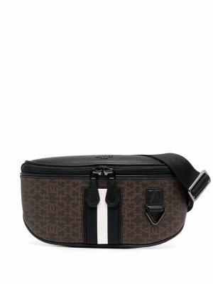 Поясная сумка Matey с монограммой Bally. Цвет: коричневый