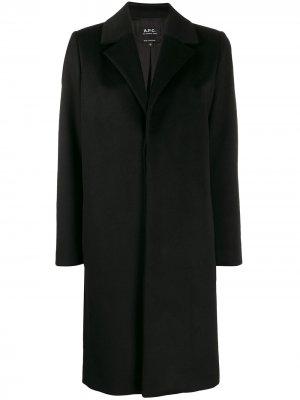 Single breasted coat A.P.C.. Цвет: черный
