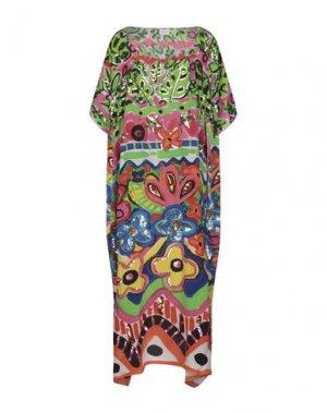 Длинное платье BONITA. Цвет: зеленый