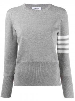 Пуловер с полосками 4-Bar Thom Browne