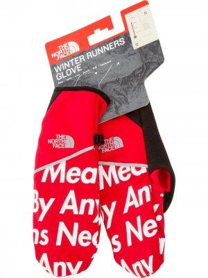 Перчатки с логотипом Supreme. Цвет: красный