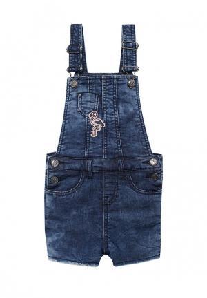 Комбинезон джинсовый 3 Pommes PO013EGZRT90. Цвет: синий