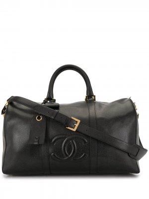Дорожная сумка 1997-го года с логотипом CC Chanel Pre-Owned. Цвет: черный