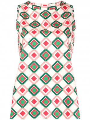 Рубашка с геометричным принтом Aspesi. Цвет: розовый