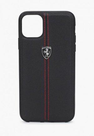 Чехол для iPhone Ferrari 11 Pro Max, Heritage W Leather Black. Цвет: черный
