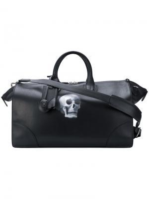 Дорожная сумка с принтом черепа Bertoni 1949. Цвет: чёрный