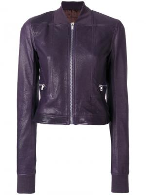 Укороченная куртка-бомбер Rick Owens. Цвет: 76-plum