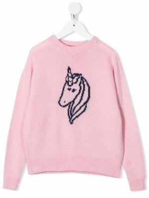Джемпер с вышивкой IRENEISGOOD. Цвет: розовый