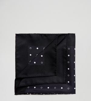 Платок для пиджака в горошек Noose & Monkey. Цвет: черный