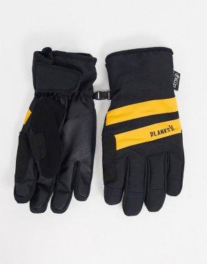 Черные утепленные перчатки -Мульти Planks