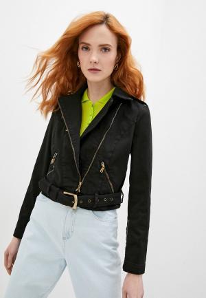 Куртка джинсовая Patrizia Pepe. Цвет: черный