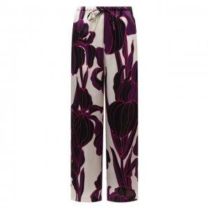 Шелковые брюки Dries Van Noten. Цвет: розовый