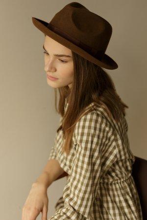 Шляпа CHEPSTOW коричневая CHRISTYS. Цвет: коричневый