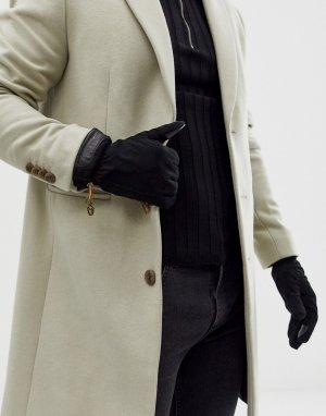 Черные замшевые перчатки -Черный Timberland