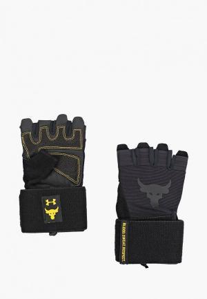 Перчатки для фитнеса Under Armour UA Project Rock Training GL. Цвет: черный