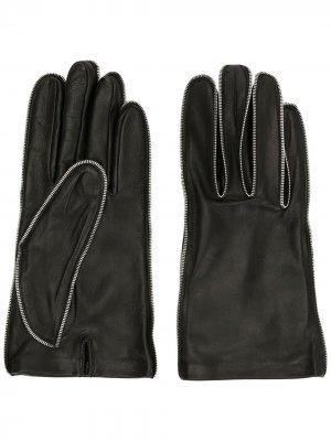 Перчатки с молниями Alexander Wang. Цвет: черный