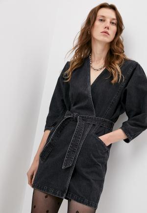 Платье джинсовое Iro. Цвет: черный