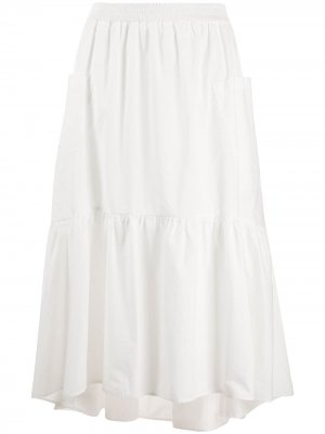 Ярусная юбка с карманами 8pm. Цвет: белый
