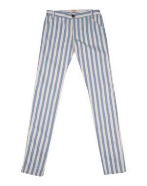 Повседневные брюки MAAN. Цвет: небесно-голубой